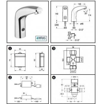 Idral Rubinetto elettronico lavabo con premiscelatore termostatico One 02511/PT