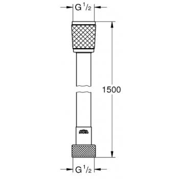 Grohe flessibile cromato 28154001