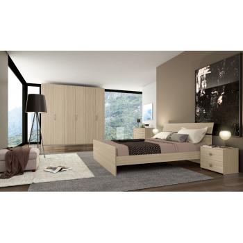 Camera da letto Beatrice in legno Olmo