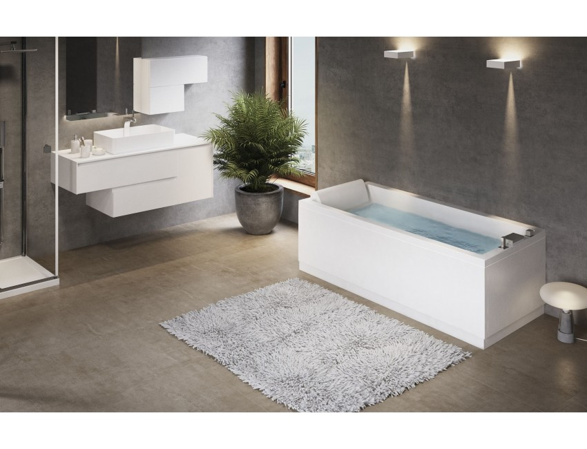 Vasca novellini rettangolare calos con telaio standard bagno - Pannelli copri piastrelle bagno ...