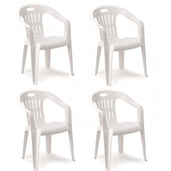 Set 4 sedie monoblocco in...
