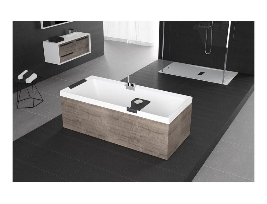 Vasca novellini rettangolare divina bagno con telaio - Pannelli copri piastrelle bagno ...