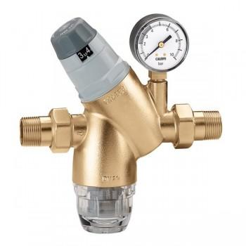 Caleffi riduttore di pressione preregolabile 5351 manometro