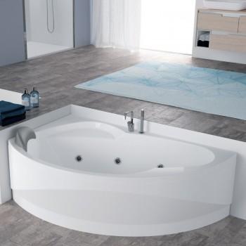 Novellini vasca da bagno idromassaggio angolare semicircolare serie vogue