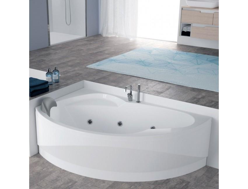 Novellini vasca da bagno idromassaggio angolare semicircolare serie vogue - Tappeto idromassaggio per vasca da bagno ...