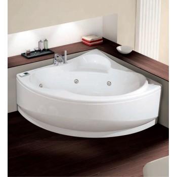 Novellini vasca da bagno idromassaggio angolare semicircolare serie una