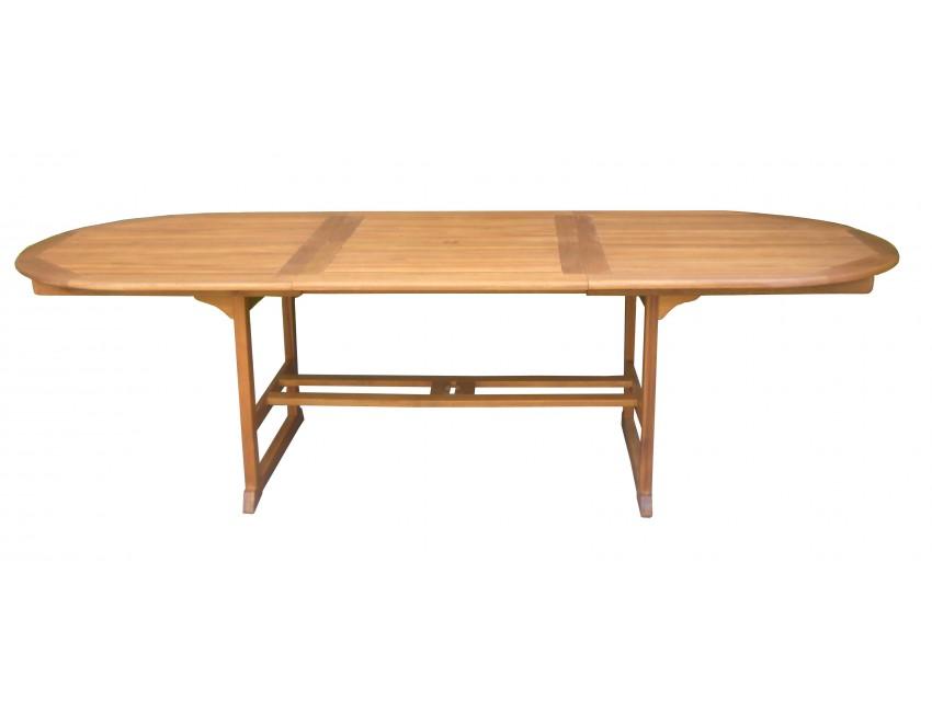 Tavolo ovale malaga allungabile legno acacia - Tavolo legno ovale allungabile ...