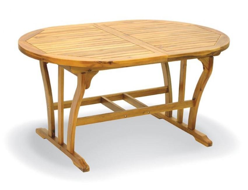 Tavolo Da Esterno Allungabile.Tavolo Da Giardino Raden 120x80 Cm Allungabile In Legno D Acacia