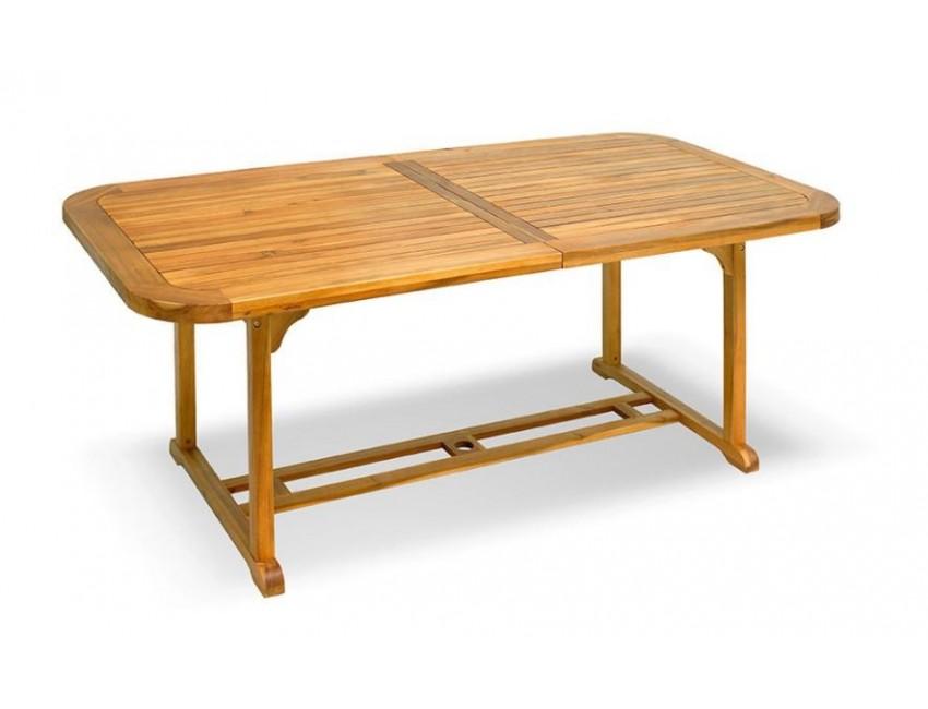 Tavolo Da Esterno Allungabile.Tavolo Da Giardino Manado 200x100 Cm Allungabile In Legno D Acacia
