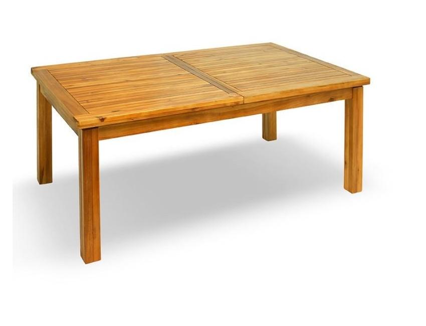 Tavolo Per Esterno Legno.Tavolo Da Giardino Nusa 200x120 Cm Allungabile In Legno D Acacia
