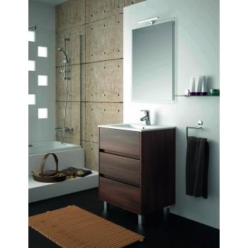 Mobile bagno 600 in legno marrone Acacia con lavabo Arenys