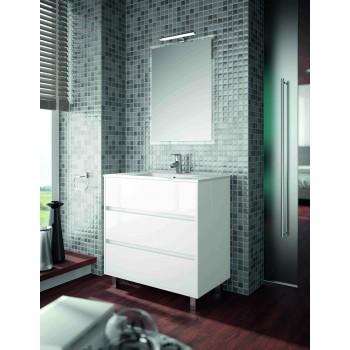 Mobile bagno 800 in legno laccato bianco lucido con lavabo Arenys