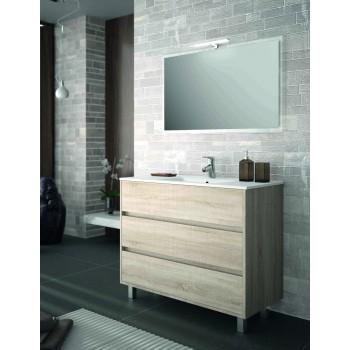 Mobile bagno 1000 in legno marrone Caledonia con lavabo Arenys
