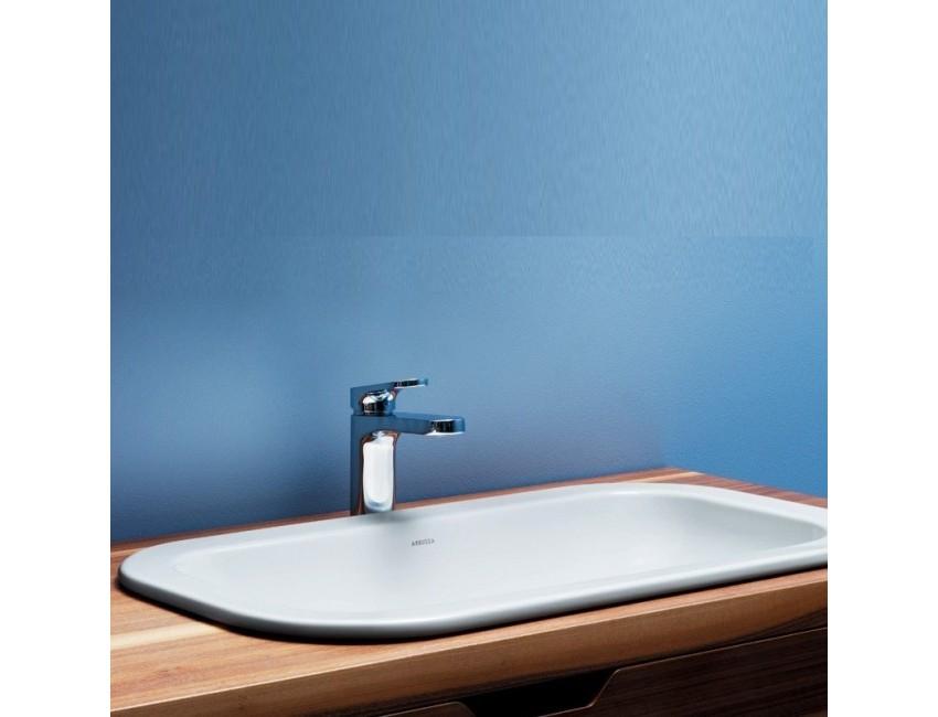 Lavabo ad incasso in ceramica 50 cm Glaze azzurra ceramica