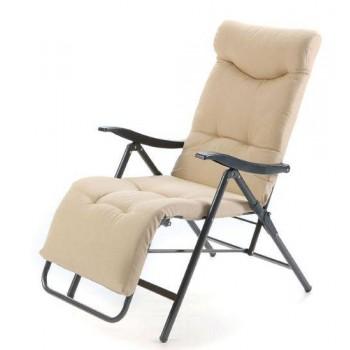 Poltrona sdraio Patty reclinabile e pieghevole beige