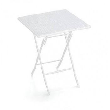 Tavolo Plastik pieghevole 62x62 cm in HDPE bianco o nero