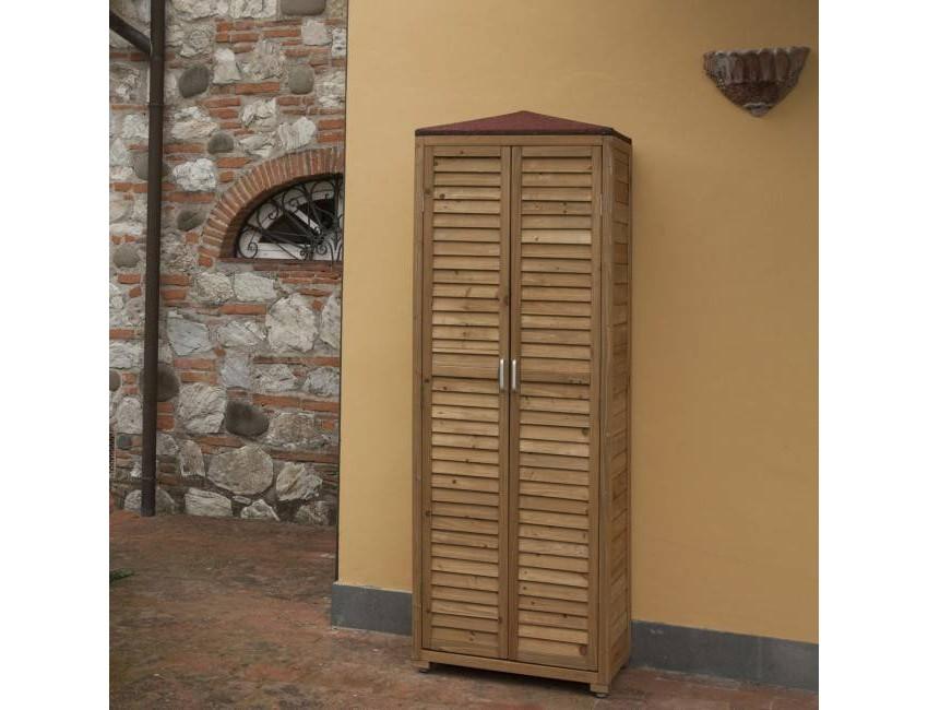 Armadio Spilungo da esterno in legno Jarsya - Caesaroo.com