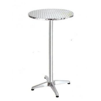 Tavolo Bar rotondo Ø 60 cm regolabile in alluminio