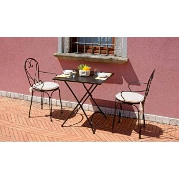 Tavolino Stresa quadrato 70 cm pieghevole