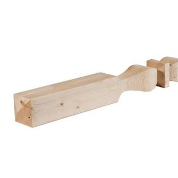 Colonne sagomate in legno di abete