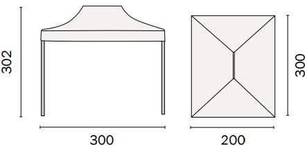Cenador folding 3x2 ecru mo gaz 111 for Piscina desmontable rectangular 3x2
